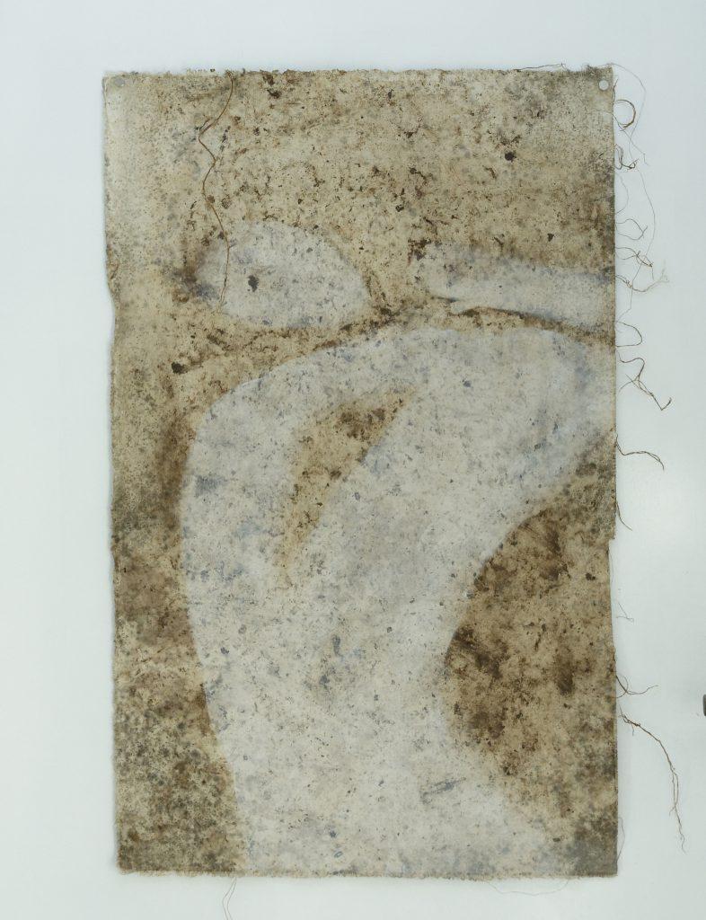 Kunst aus der Erde: Leinwand lag mehrere Wochen nahe Tonteich/Kreis Herzogtum Lauenburg